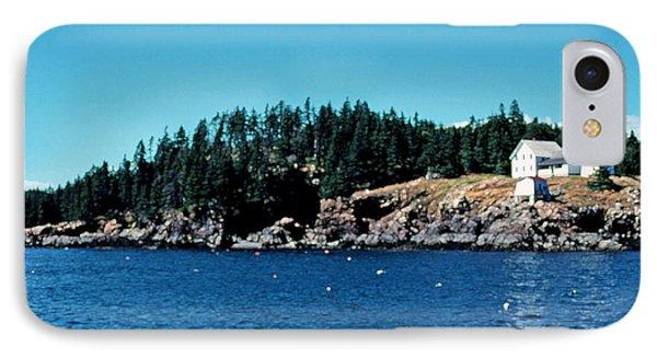 Swans Island Lighthouse Phone Case by Thomas R Fletcher