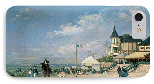 The Beach At Trouville IPhone Case by Eugene Louis Boudin