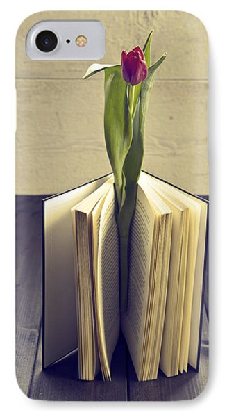 Tulip In A Book Phone Case by Joana Kruse
