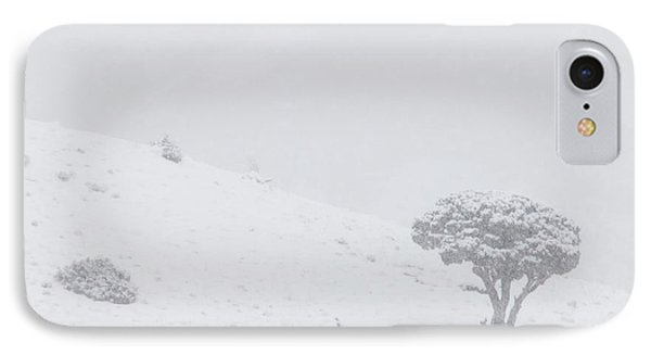 Yellowstone Park Wyoming Winter Snow Phone Case by Mark Duffy