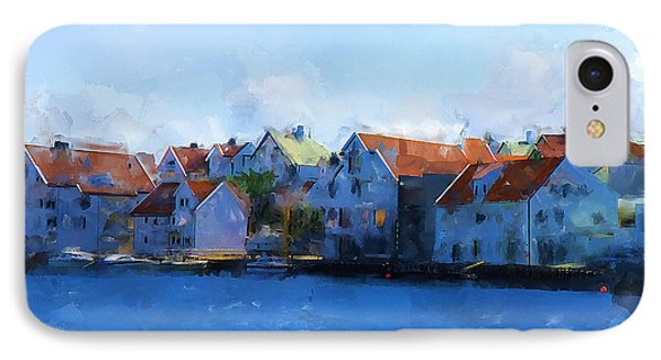 Haugesund Harbour Phone Case by Michael Greenaway
