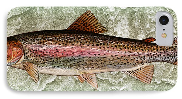 Rainbow Trout IPhone Case by John Stephens