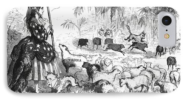 Secession Cartoon, 1861 IPhone Case by Granger
