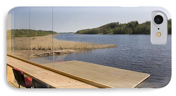 Lakeside Building And Dock Phone Case by Jaak Nilson