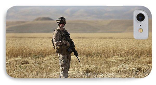 U.s. Marine Patrols A Wadi Near Kunduz Phone Case by Terry Moore