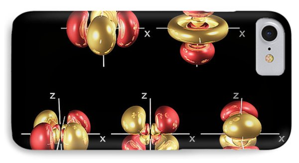 4d Electron Orbitals Phone Case by Dr Mark J. Winter