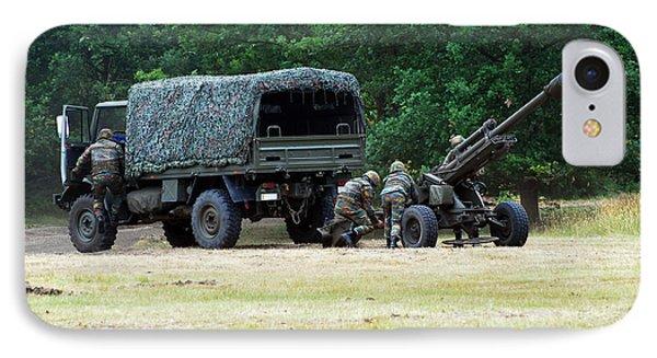 A Belgian Artillery Unit Setting Phone Case by Luc De Jaeger