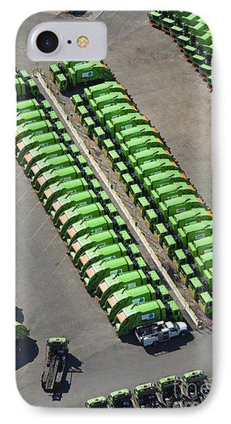 Garbage Truck Fleet Phone Case by Don Mason