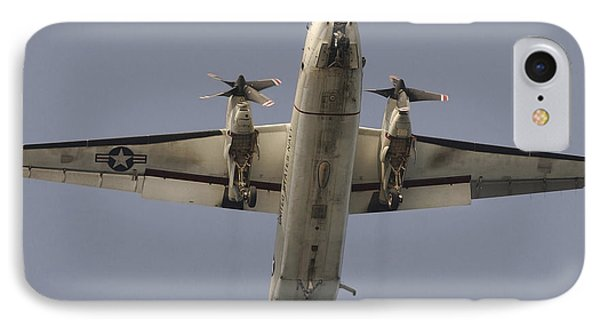 A C-2 Greyhound In Flight Phone Case by Stocktrek Images