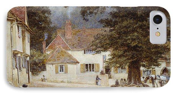 A Cart By A Village Inn IPhone Case by Helen Allingham