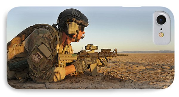 A Combat Rescue Officer Provides Phone Case by Stocktrek Images
