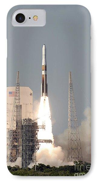 A Delta Iv Rocket Lfits Phone Case by Stocktrek Images