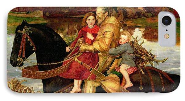 A Dream Of The Past IPhone Case by Sir John Everett Millais