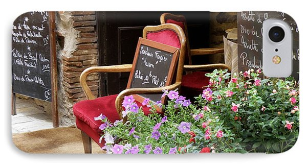 A French Restaurant Greeting IPhone Case by Lainie Wrightson