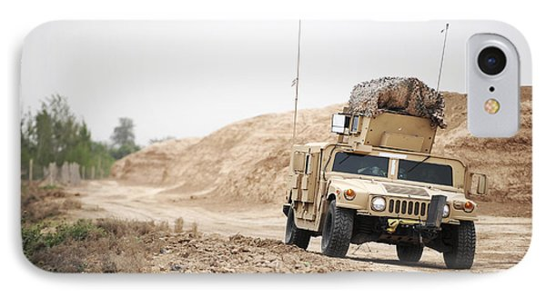 A Humvee Conducts Security Phone Case by Stocktrek Images