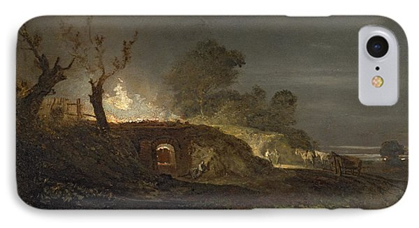 A Lime Kiln At Coalbrookdale Phone Case by Joseph Mallord William Turner