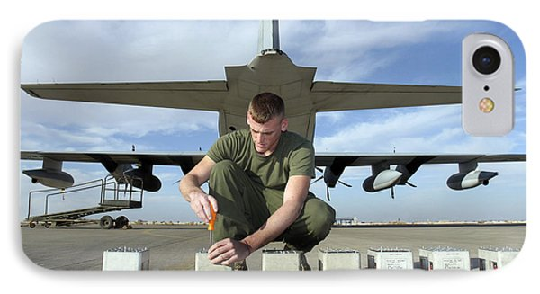 A Marine Replaces Flares In Flare Phone Case by Stocktrek Images