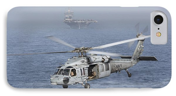 A Mh-60s Knighthawk Conducts A Vertical Phone Case by Gert Kromhout