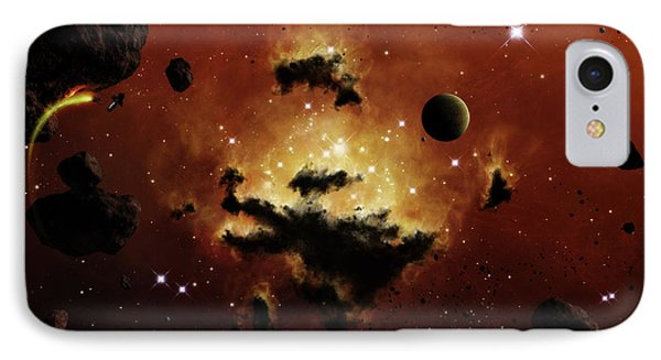 A Nebula Evaporates In The Far Distance Phone Case by Brian Christensen