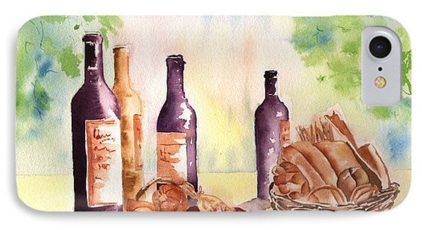 A Nice Bread And Wine Selection IPhone Case by Sharon Mick
