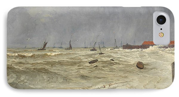 A Rough Day At Leigh IPhone Case by William Pye
