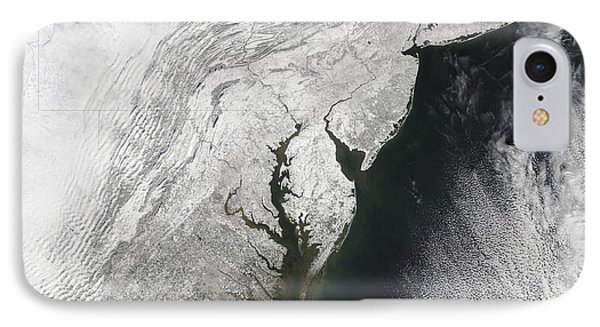 A Severe Winter Storm Along The United Phone Case by Stocktrek Images
