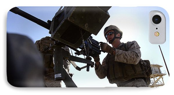 A Soldier Fires 40mm Rounds Phone Case by Stocktrek Images