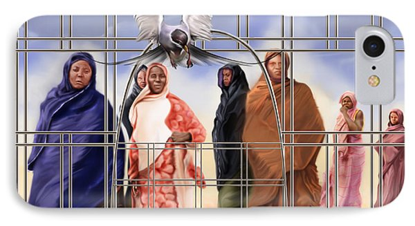A Song For The Caged Birds Of Mauritania Phone Case by Reggie Duffie