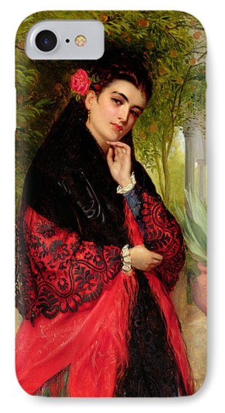 A Spanish Beauty IPhone Case by John-Bagnold Burgess