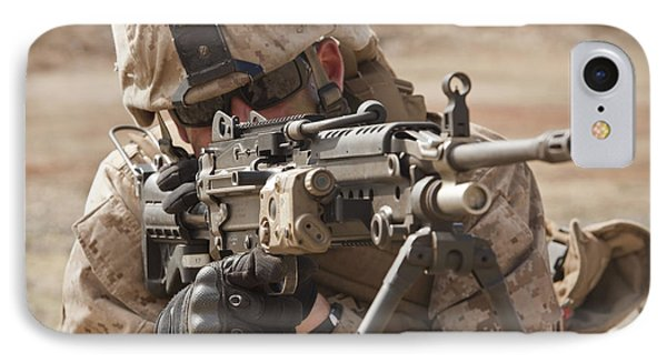 A Squad Automatic Weapon Gunner Phone Case by Stocktrek Images