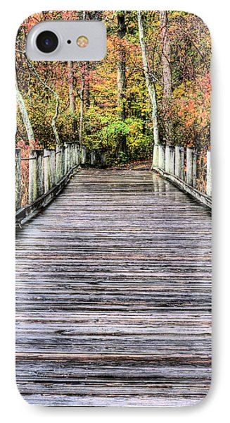 A Stroll Through Autumn Phone Case by JC Findley
