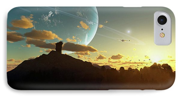 A Sunset On A Forested Moon Which IPhone Case by Brian Christensen