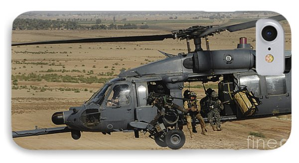 A U.s. Air Force Hh-60 Pavehawk Flies Phone Case by Stocktrek Images
