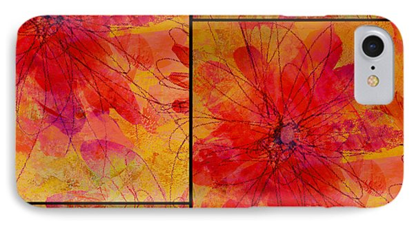 Abstract Floral Collage IPhone Case by Ann Powell