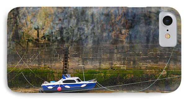 Abstract Harbour And Boat Phone Case by Svetlana Sewell