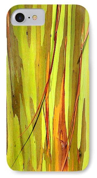 Abstract Rainbow Eucalyptus 1 IPhone Case by Marilyn Hunt