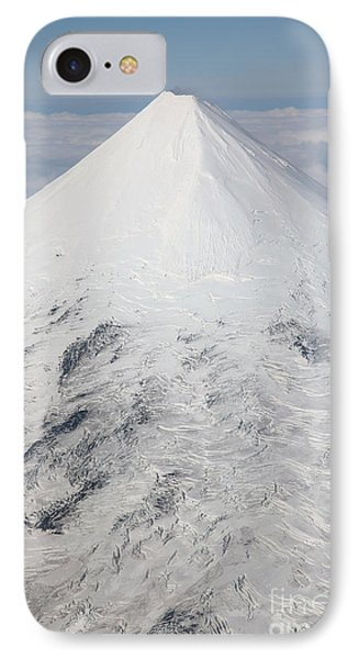 Aerial View Of Glaciated Shishaldin Phone Case by Richard Roscoe