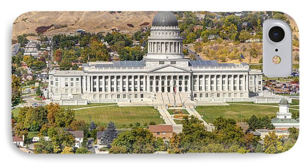 Aerial View Of Utah State Capitol Building Phone Case by Gary Whitton