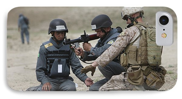 Afghan Police Students Assemble A Rpg-7 Phone Case by Terry Moore