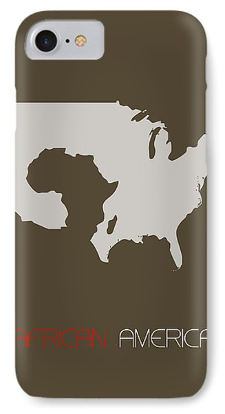 African America Poster Phone Case by Naxart Studio