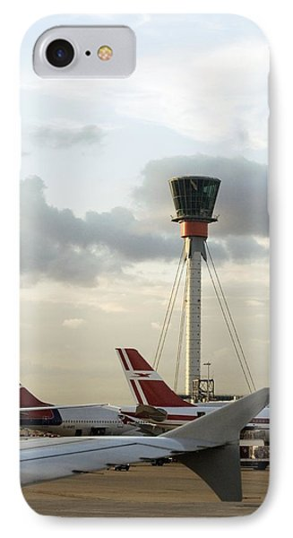 Air Traffic Control Tower, Uk Phone Case by Carlos Dominguez
