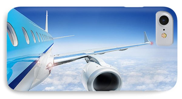 Airliner In Flight Above The Clouds Phone Case by Corepics