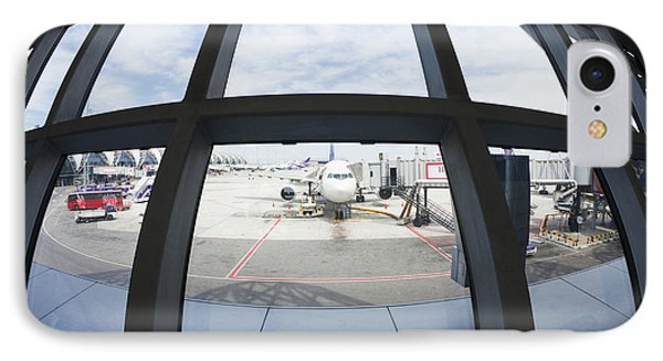 Airplane Parked At Gate Phone Case by Don Mason