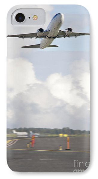 Airplane Taking Off Phone Case by Jaak Nilson