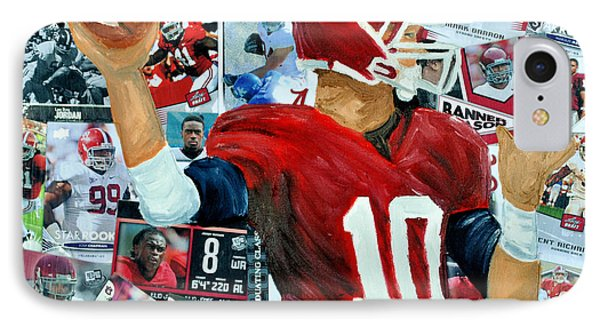 Alabama Quarter Back Passing Phone Case by Michael Lee