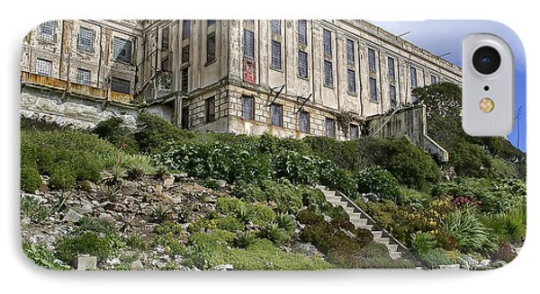 Alcatraz Cell House West Facade Phone Case by Daniel Hagerman