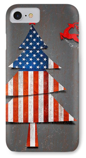 America X'mas Tree Phone Case by Atiketta Sangasaeng