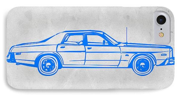 American Car IPhone Case by Naxart Studio