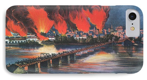 American Civil War Fall Of Richmond Phone Case by Photo Researchers