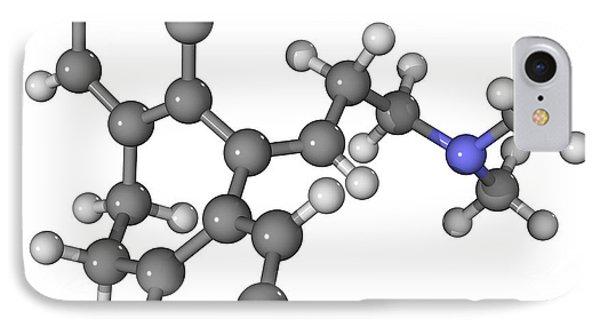 Amitriptyline Antidepressant Molecule Phone Case by Laguna Design